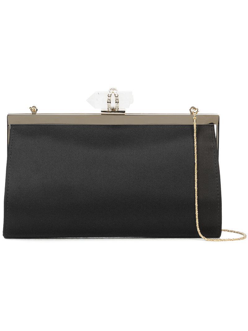 Marchesa Embellished clasp clutch bag xw6Fz