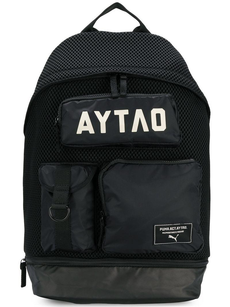 Puma Perforated Backpack in Black - Lyst 4bdc3645abc