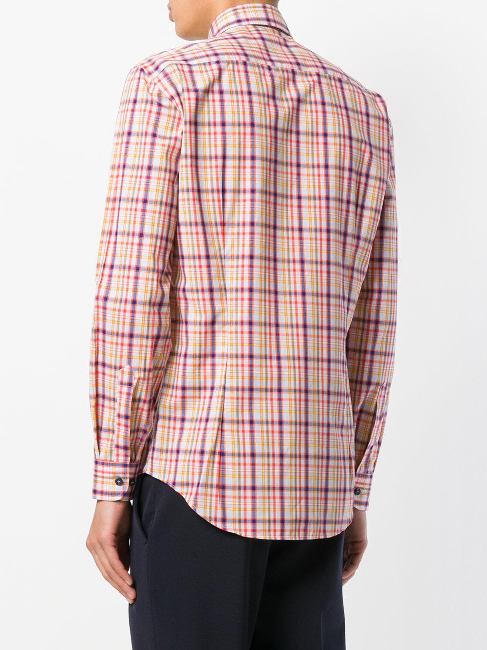 Purchase Cheap checked button-down shirt - Multicolour Etro Cheap Sale Get To Buy 1xEN4