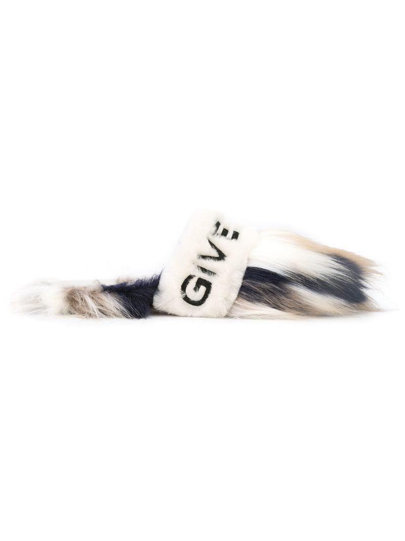 Givenchy Logo Fur Women's Faux Mules xqq7YzwF
