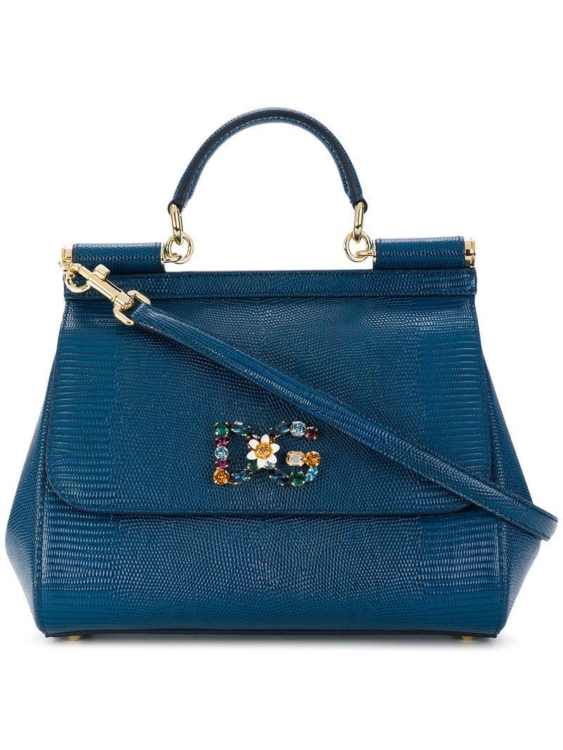 6e85f8a9c8 Lyst - Dolce   Gabbana Jewelled Sicily Bag in Blue