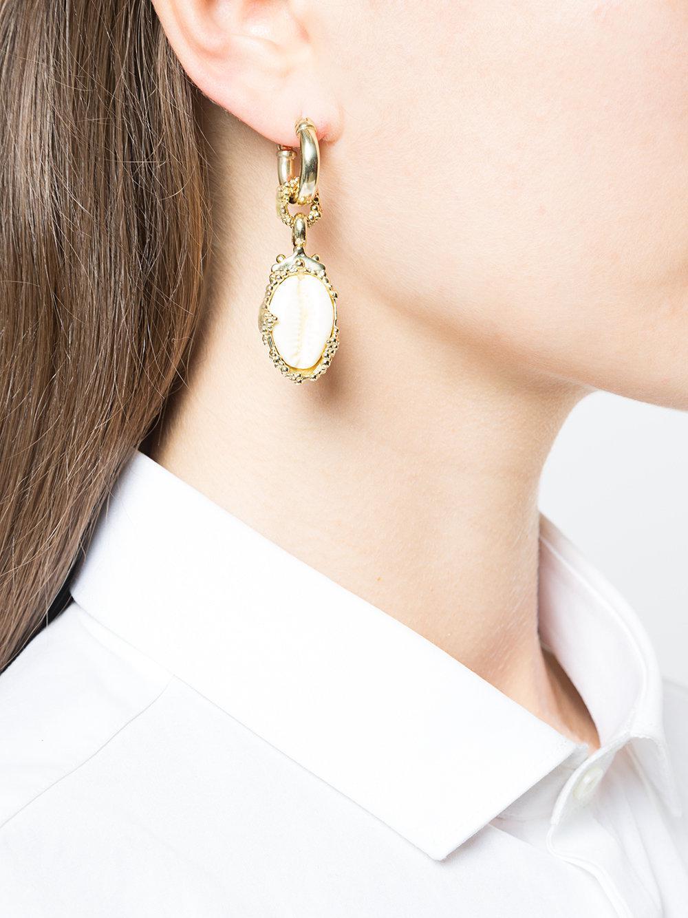 Ellery drop shell earrings - Metallic vo58A