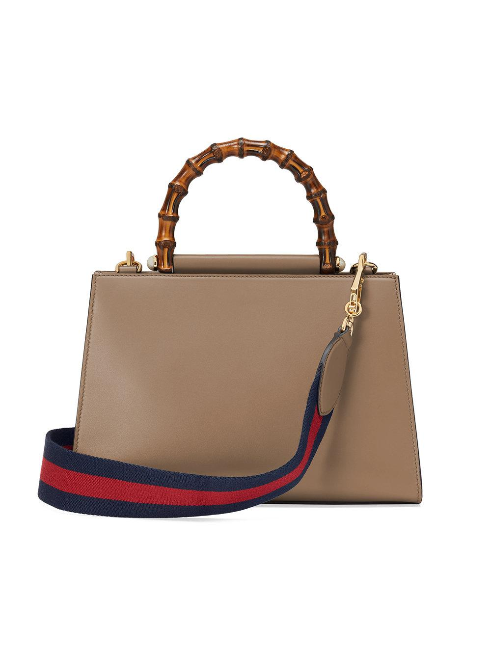 1f434c0f946 Lyst - Gucci Nymphaea Small Top Handle Bag in Brown