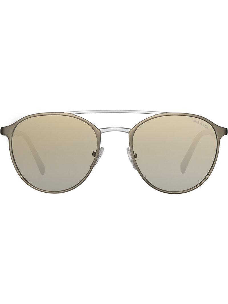 2763dbdada8 Prada - Gray Mirrored Gradient Sunglasses for Men - Lyst. View fullscreen
