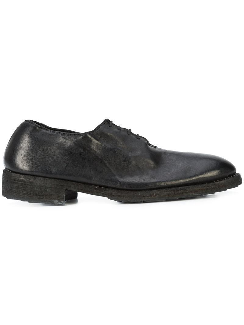 8bf2b6365 Guidi Classic Lace-up Shoes in Black - Lyst