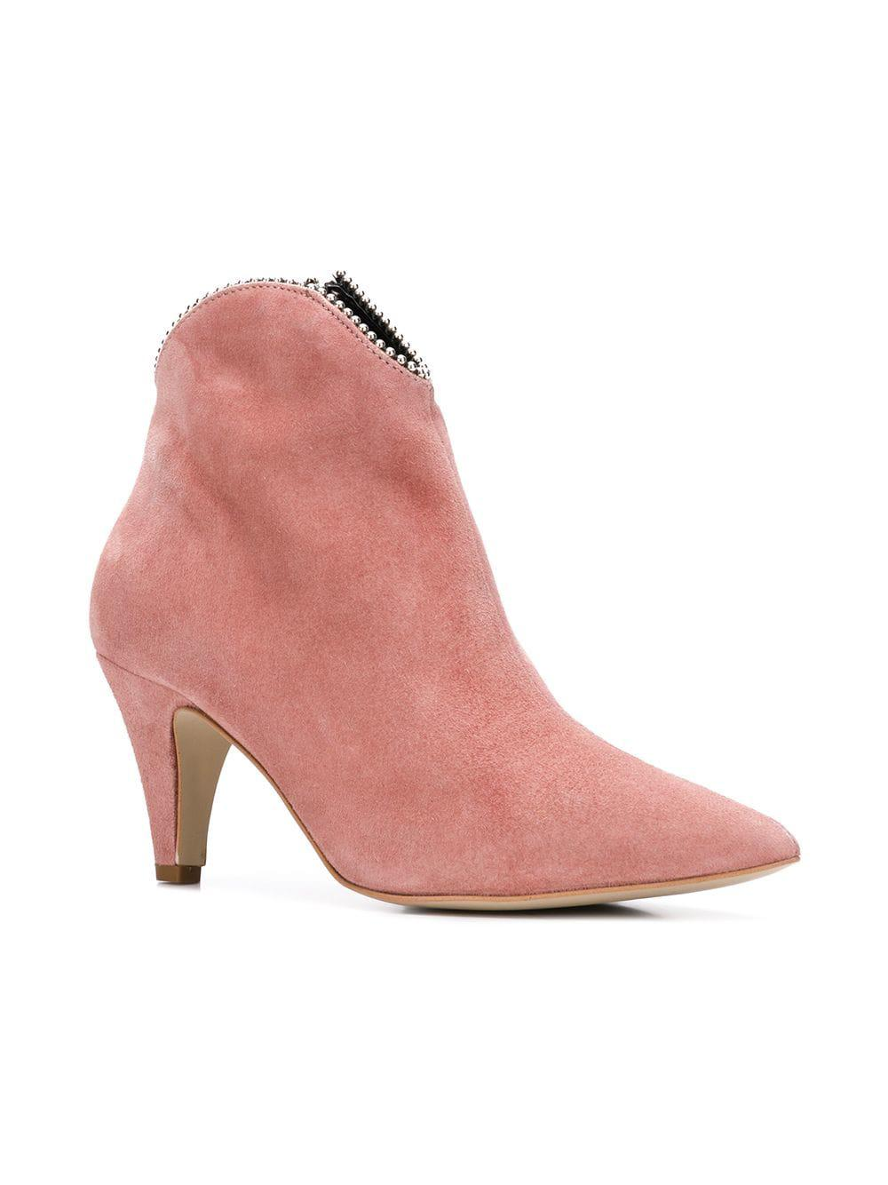 9c58fe5584c Lyst - Rebecca Minkoff Embellished Top Ankle Boots in Pink - Save 19%