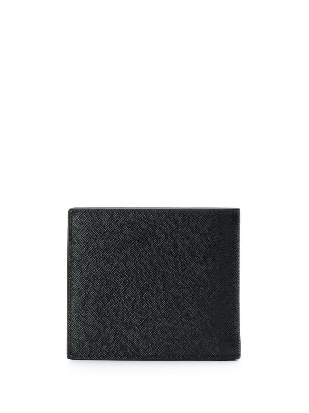 832d45f48a6d Prada Logo Plaque Wallet in Black for Men - Lyst