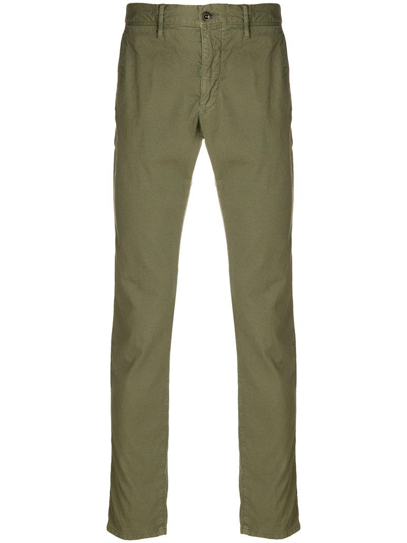 tailored fitted trousers - Green Incotex f2F31hD6