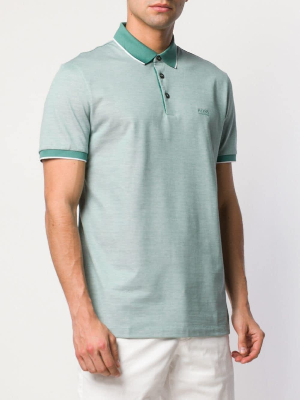 92c146e1 BOSS - Green Prout Polo Shirt for Men - Lyst. View fullscreen