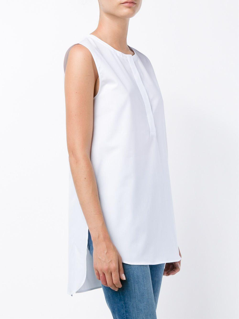 sleeveless blouse - White Adam Lippes Cheap Sale Exclusive zISmXpBney