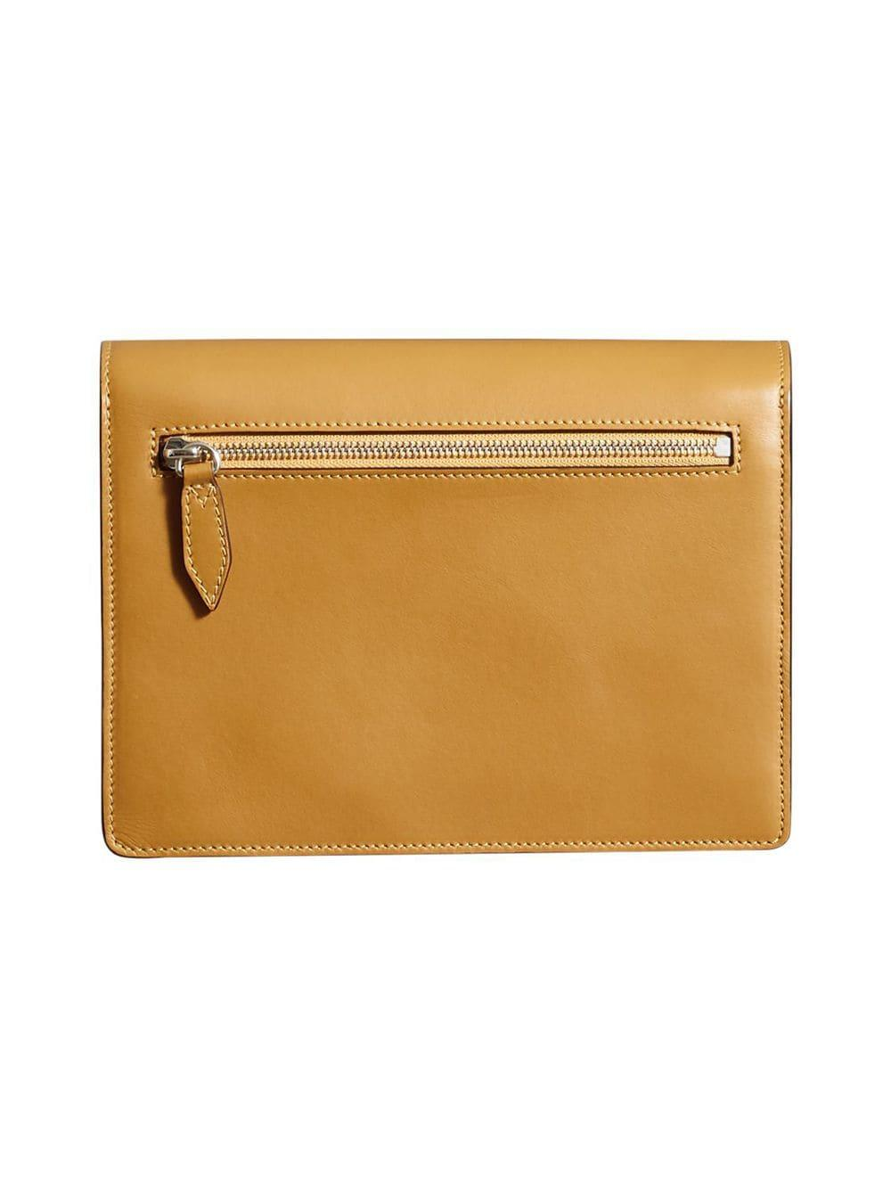 Burberry Two-tone Leather Crossbody Bag in Yellow - Lyst 19235b4c7cb47