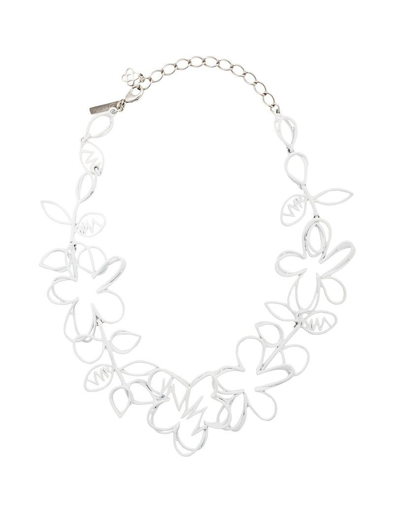 Oscar De La Renta Botanical Scribble Necklace z1x5KPo