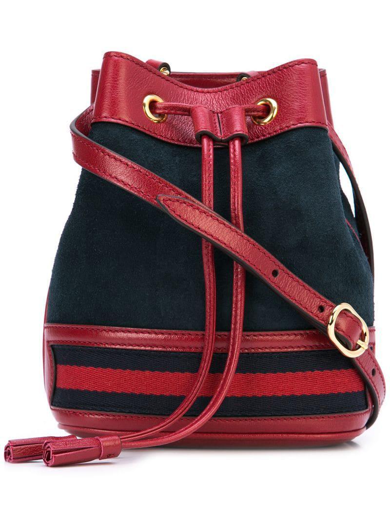 8cecf622a16 Lyst - Gucci Rajah Medium Bucket Bag in Blue