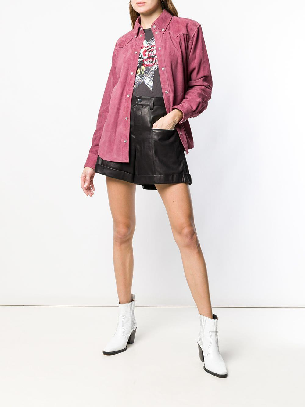 db70853785 Lyst - Isabel Marant High Waist Shorts in Black