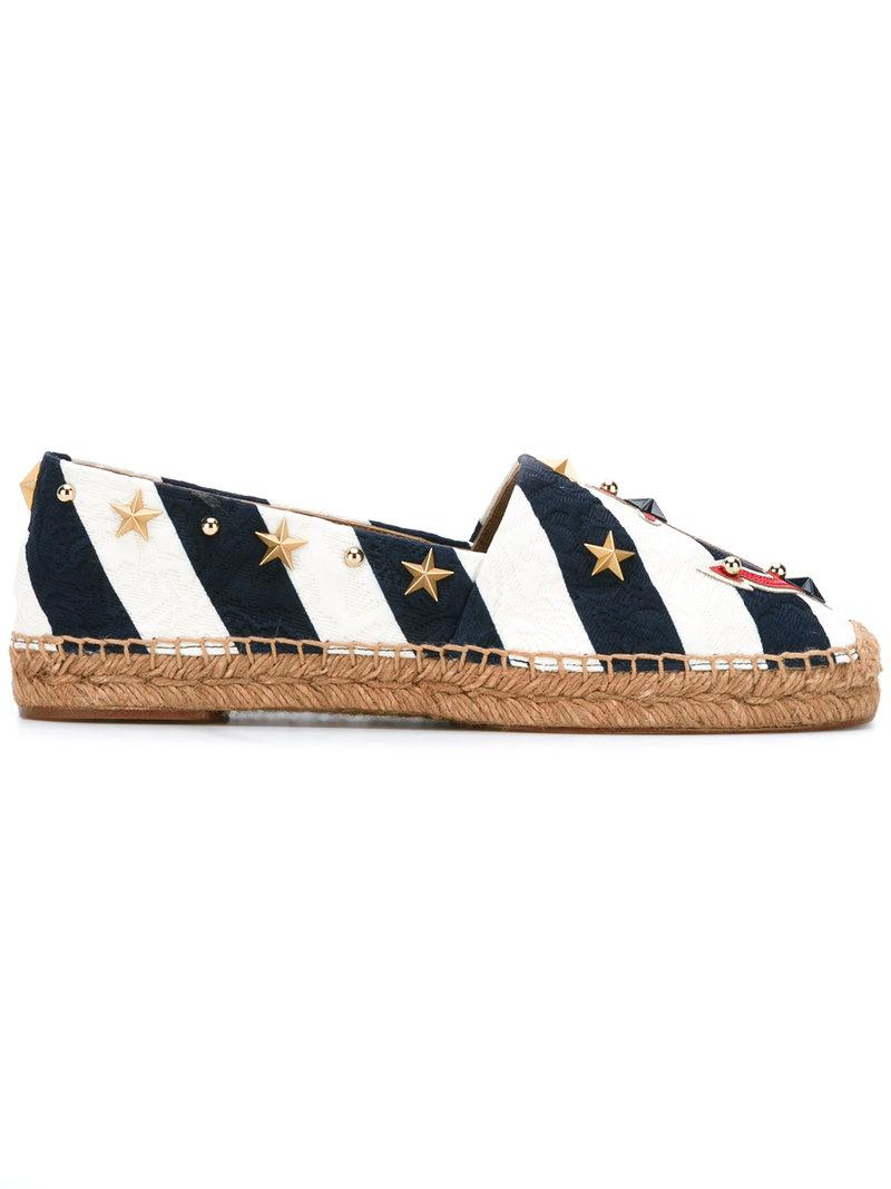 Dolce & Gabbana Anchor striped espadrilles CndKhBJ0W
