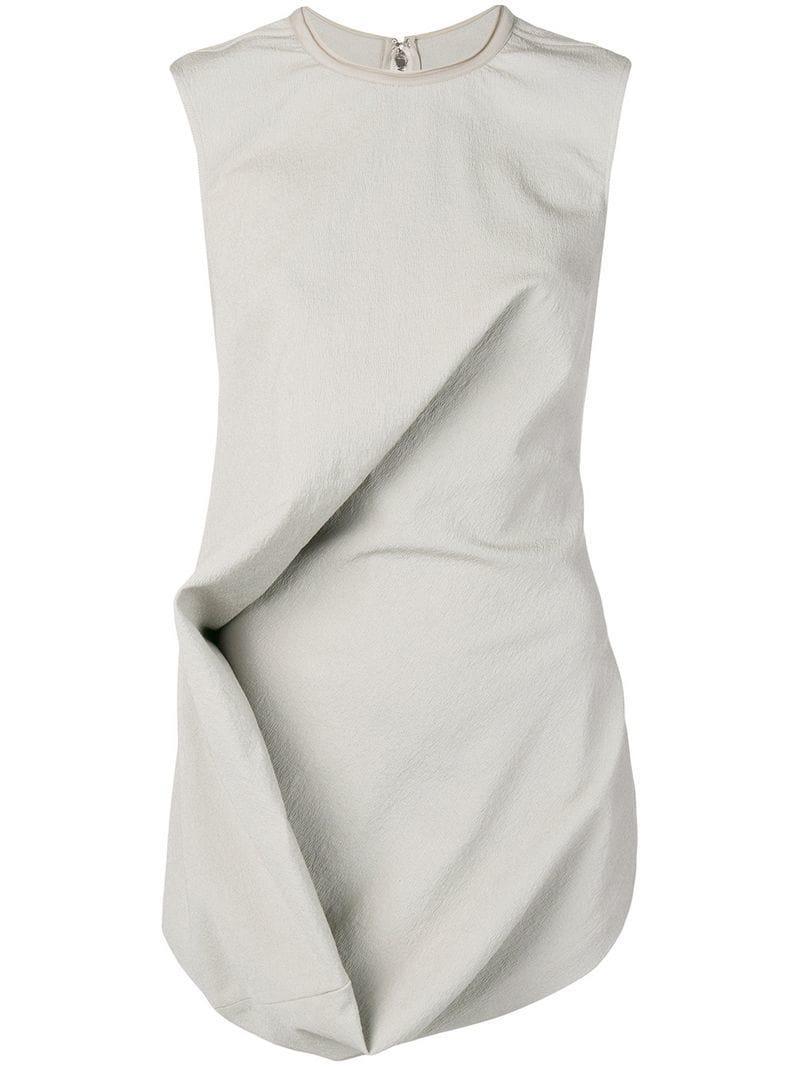 78d8f1e24ad8c Lyst - Rick Owens Asymmetric Vest Top in Gray
