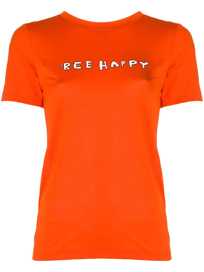 Ganni Bee happy print T-shirt Zd4Fa