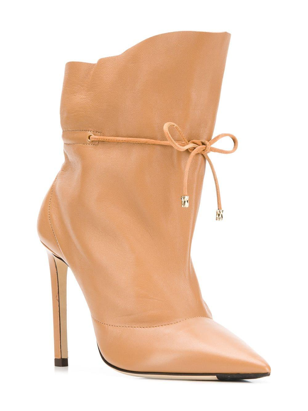 8c0e1af5eeea Jimmy Choo Stitch Ankle Boots - Lyst
