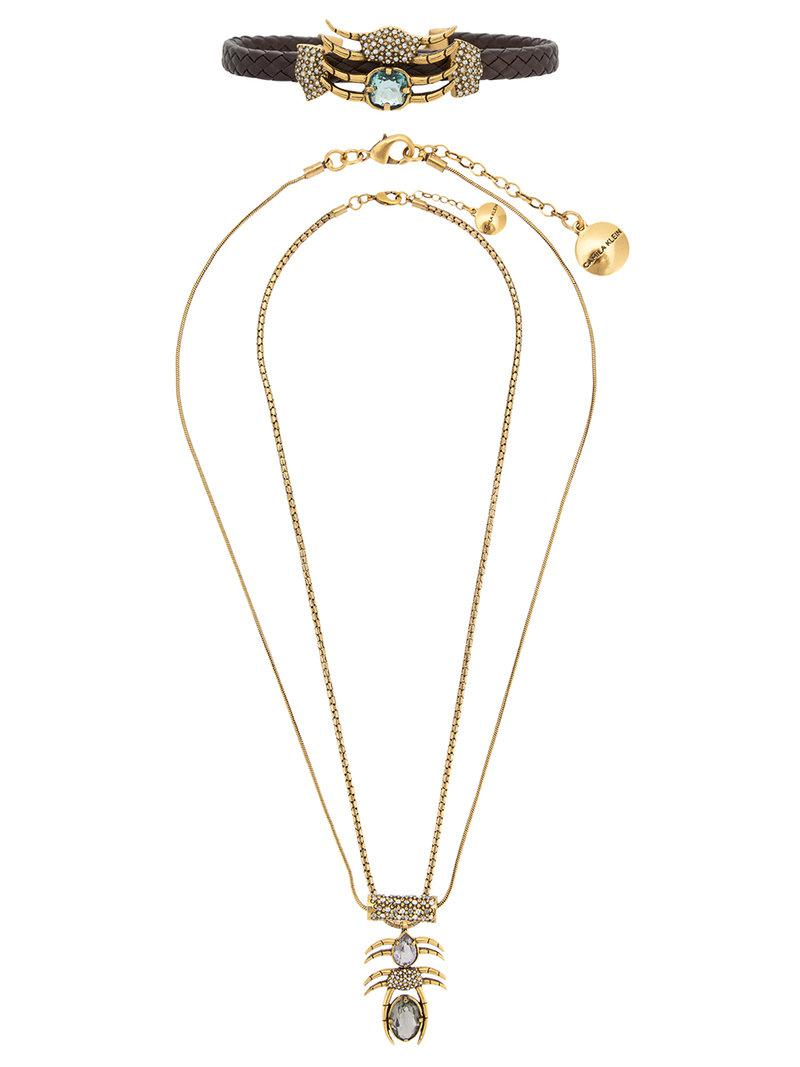 Camila Klein pendant necklace and choker set - Metallic pEEYp3kCfE