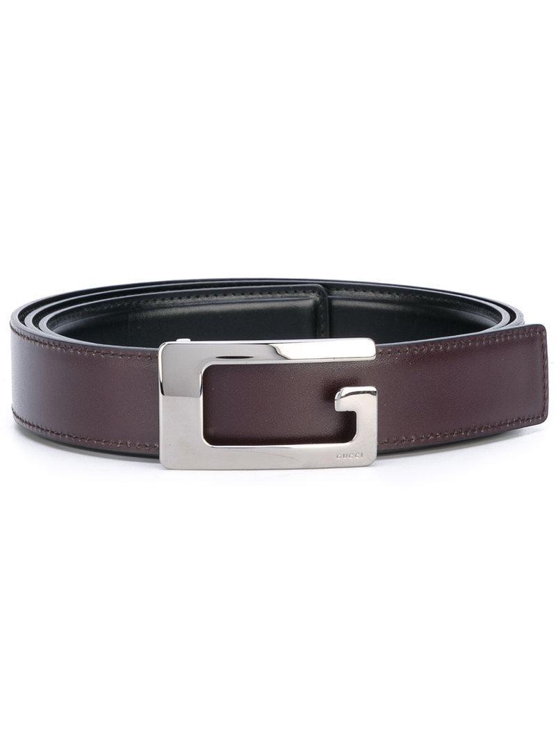 Lyst - Cinturón con hebilla en G Gucci de hombre de color Marrón 20da7178550