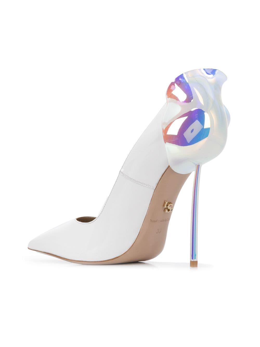 f2a1630726d2 Le Silla Holographic Petalo Pumps in White - Lyst