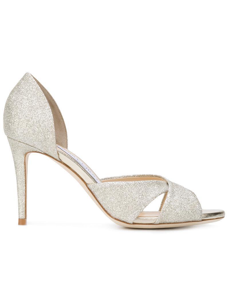 381c83362655 Lyst - Jimmy Choo Lara 85 Sandals in Metallic