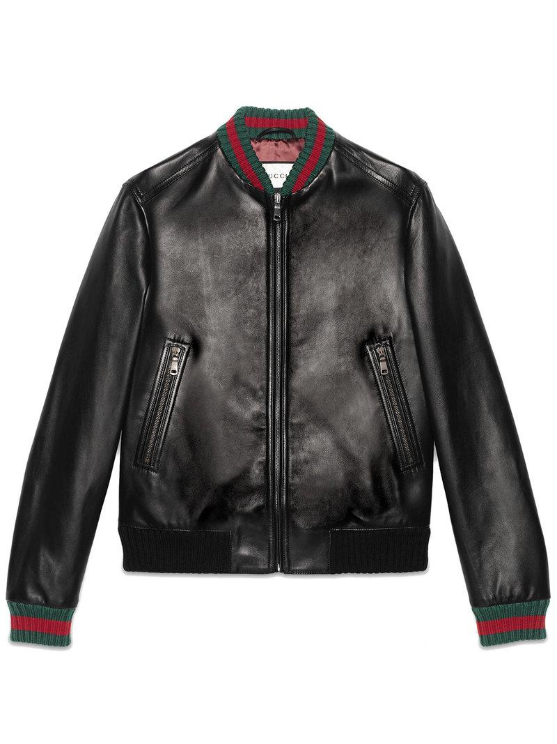 a3d5649dd994 Lyst - Gucci Jacket With Web in Black for Men - Save 6%