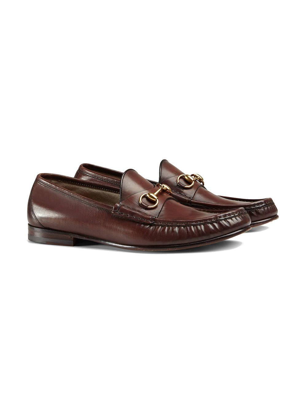 d17b8d3937d Gucci 1953 Horsebit Loafers in Brown for Men - Save 8% - Lyst