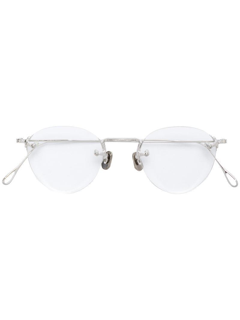 e0430ba3443a Lyst - Eyevan 7285 Frameless Glasses in Metallic