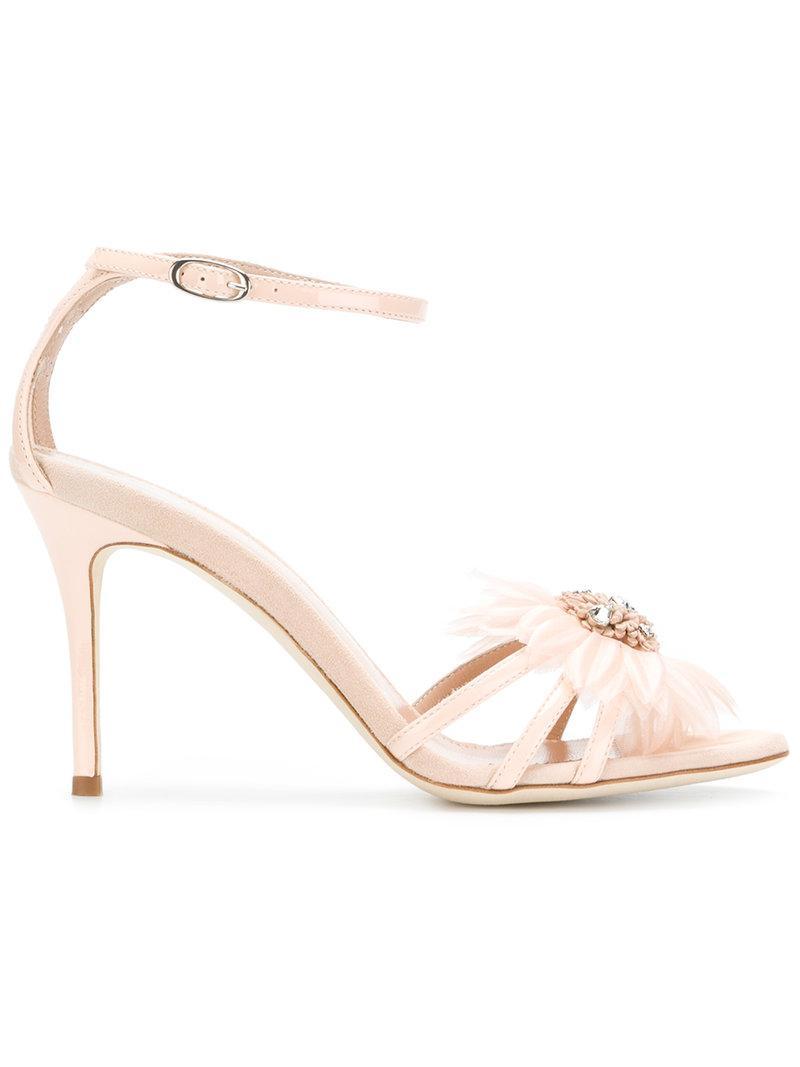 embellished flower sandals - Nude & Neutrals Giuseppe Zanotti hWmN0t