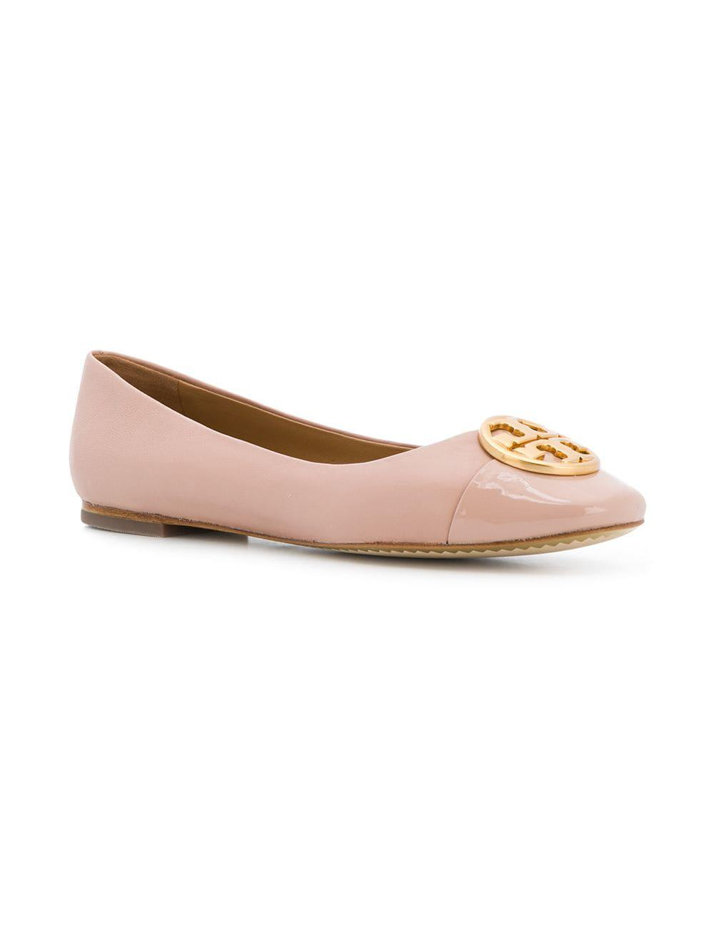 2fce650709e Tory Burch Chelsea Cap Toe Ballet Flats in Pink - Save 4.296875% - Lyst