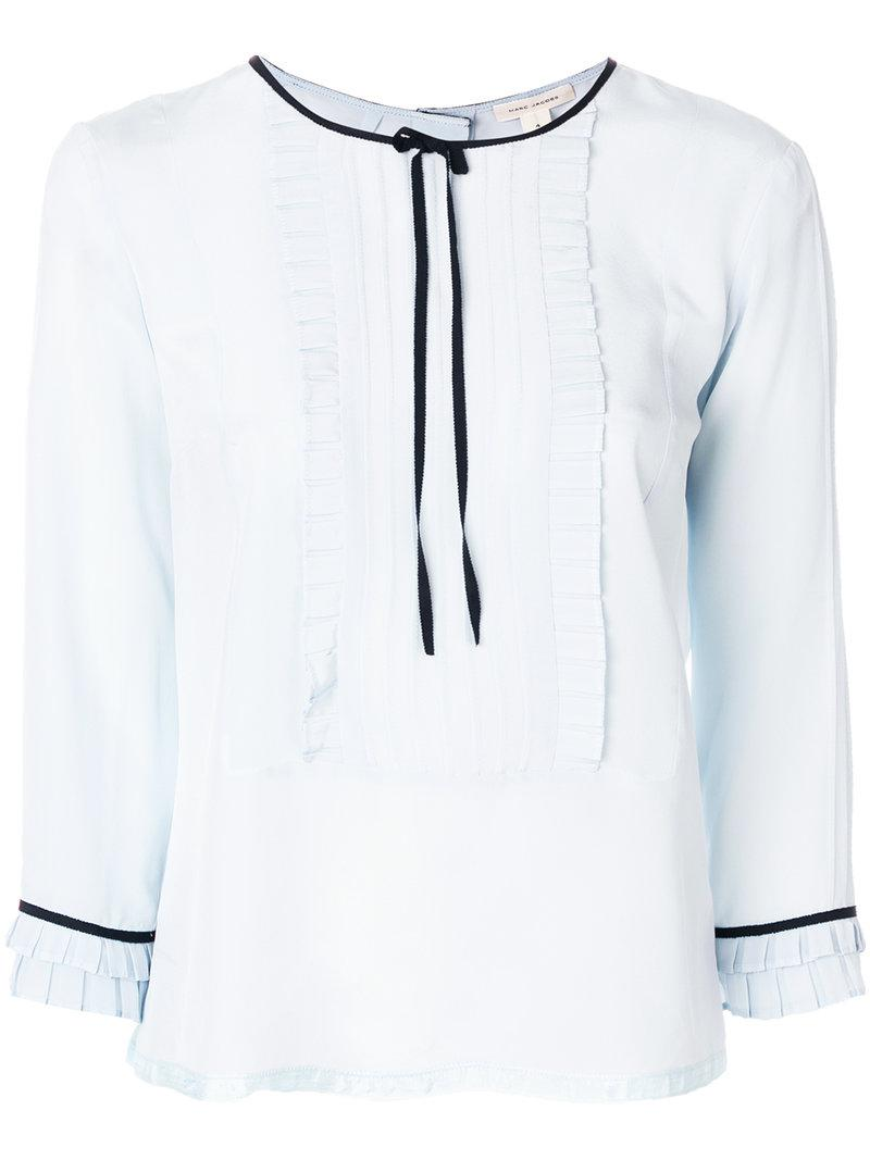 ruffle blouse - Blue Marc Jacobs Amazing Price Online Cheap Sale Comfortable Cheap Sale Fast Delivery Dazv29