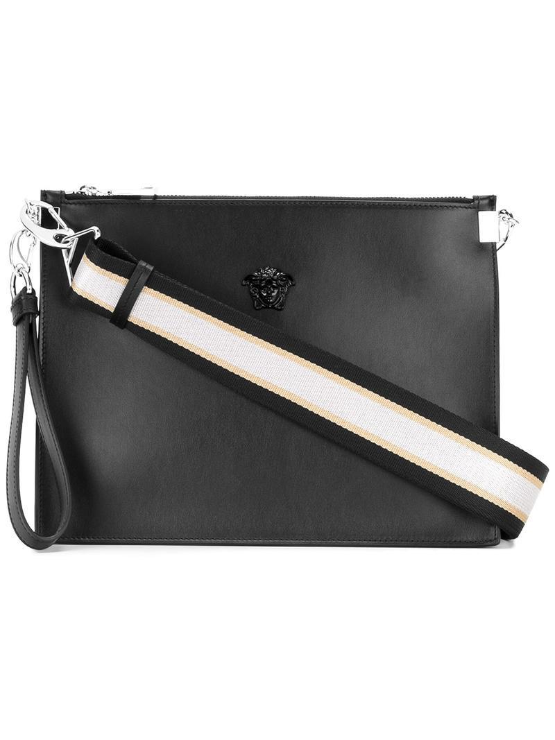 0683a4cdcf Lyst - Versace Palazzo Medusa Wristlet Clutch Bag in Black
