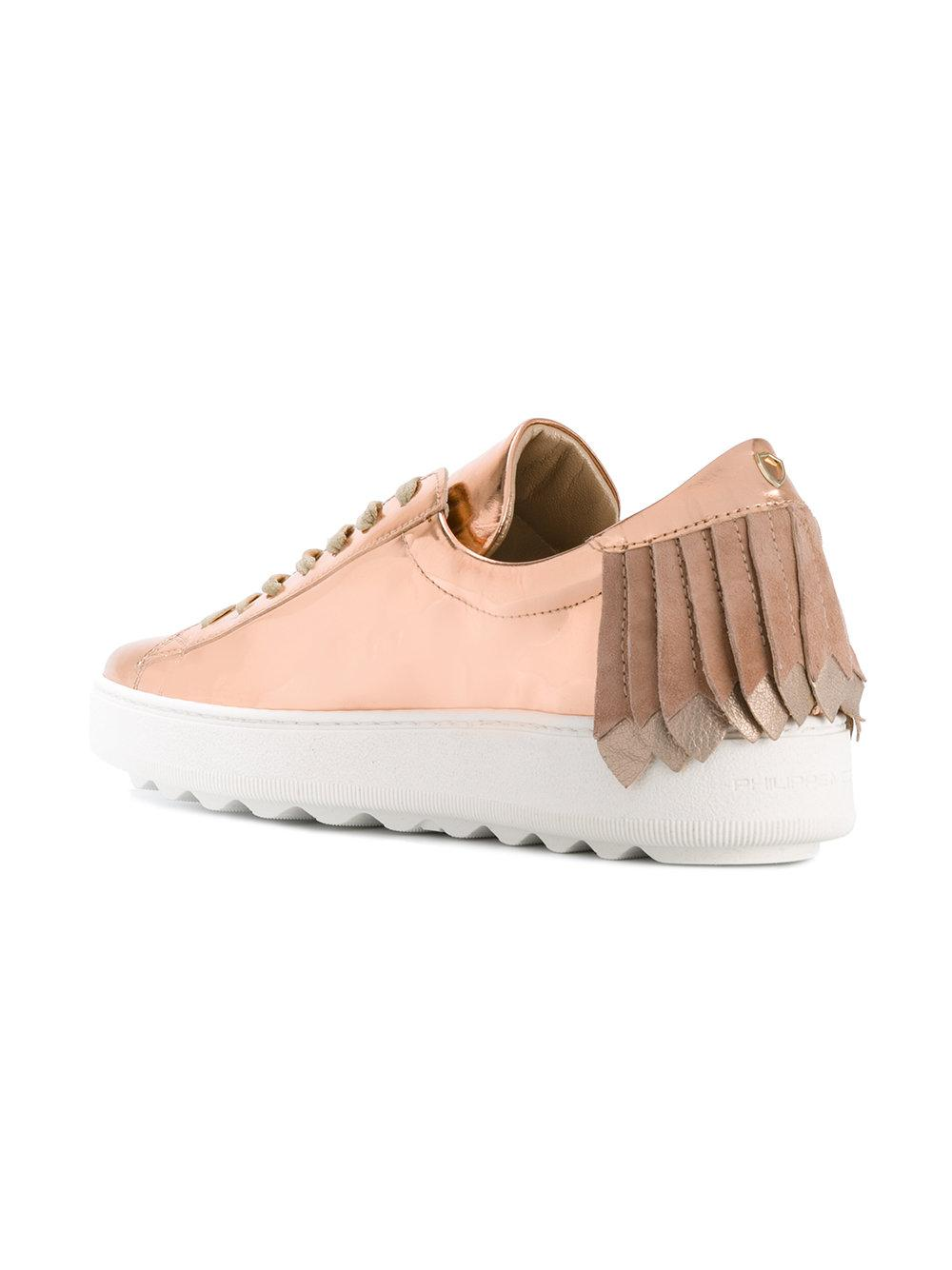 fringed sneakers - Pink & Purple Philippe Model rUxGr