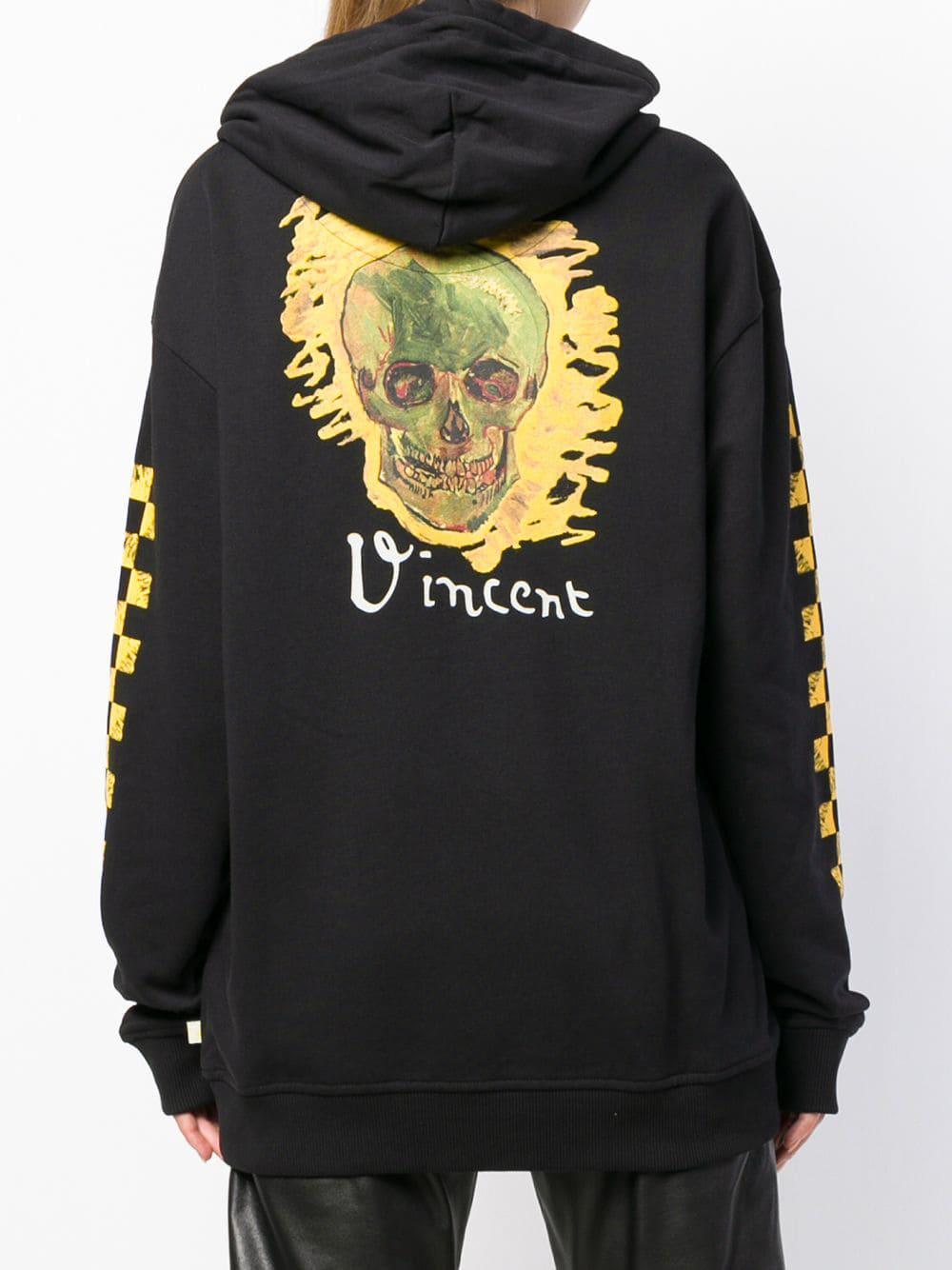 6e571f4ea3 Lyst - Vans X Van Gogh Museum Skull Print Hoodie in Black