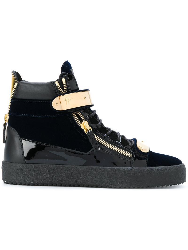 af2c664d256 Lyst - Giuseppe Zanotti Coby Velvet Sneakers in Blue for Men