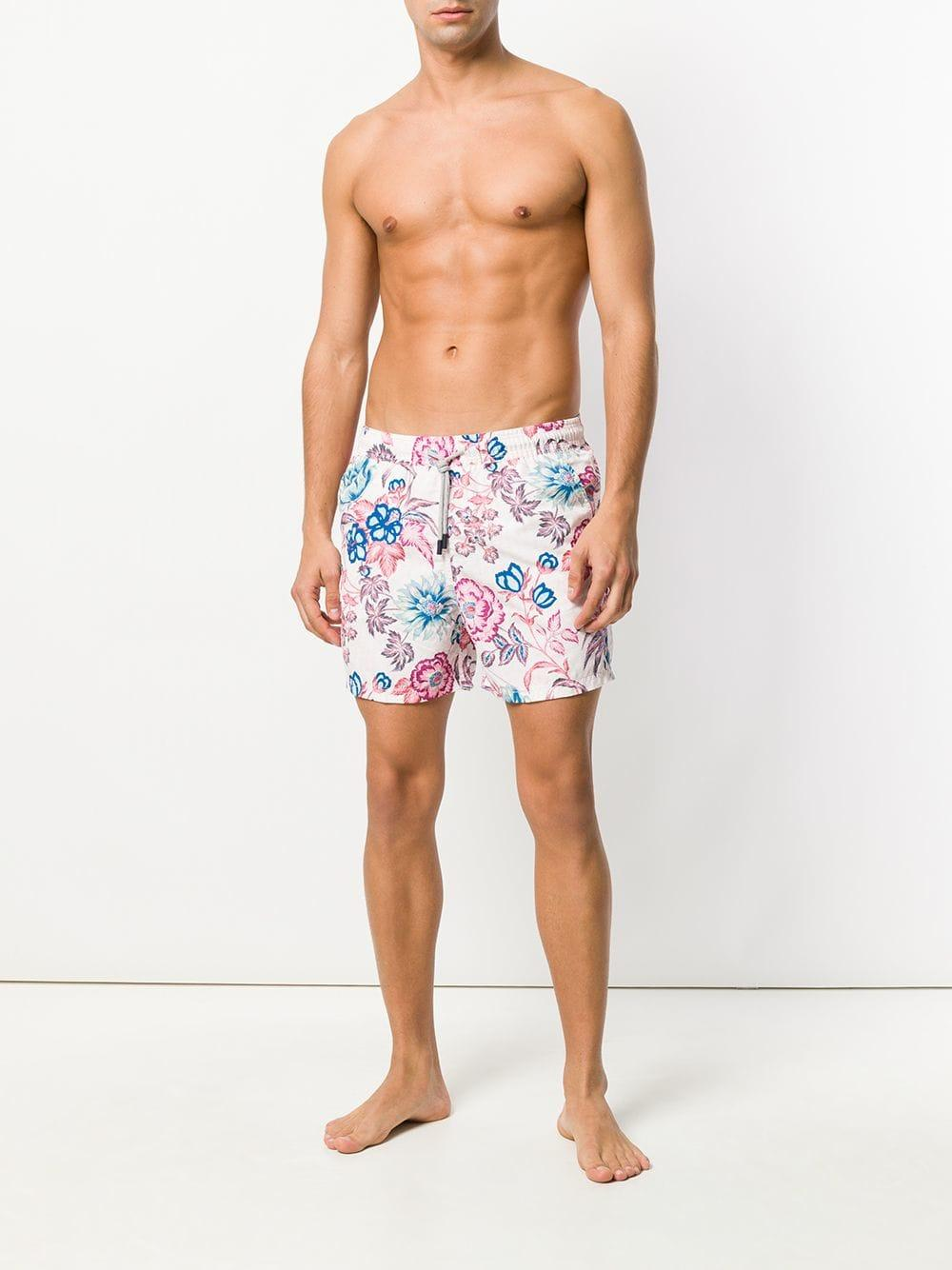 7234dfdc3e8 Lyst - Etro Floral Print Swim Shorts in Pink for Men