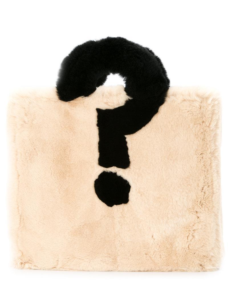 Tu Es Mon Trésor Question Mark tote Brand New Unisex Online New Arrival Cheap Online Hot Sale Cheap Price BzDEFZm