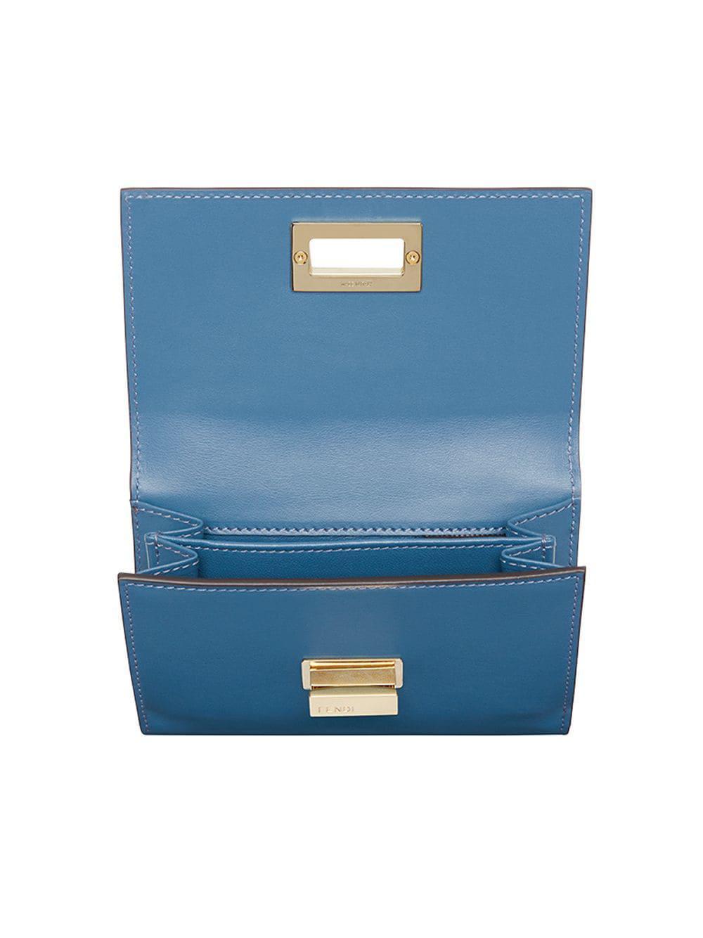 46bfd29f8aeb Fendi - Blue Peekaboo Selleria Wallet - Lyst. View fullscreen
