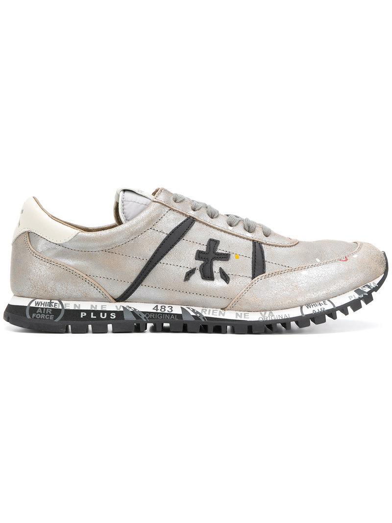 distressed style sneakers - Grey Premiata 49RyhGm