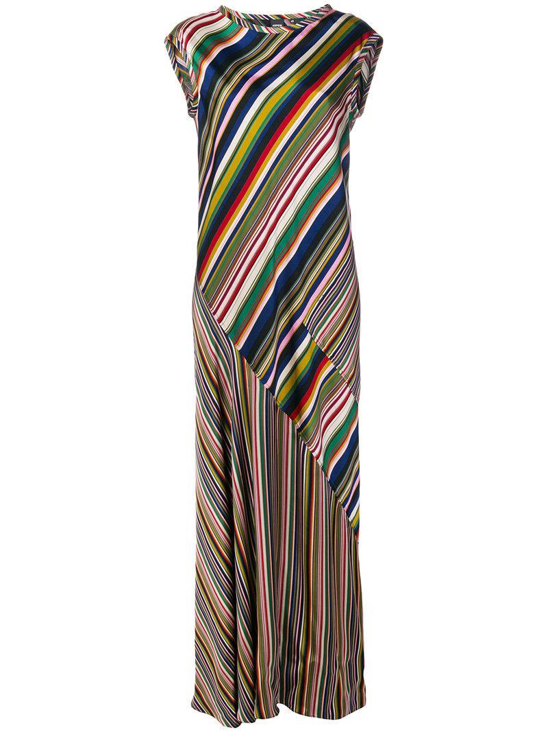striped long dress - Multicolour Aspesi 4foQdp