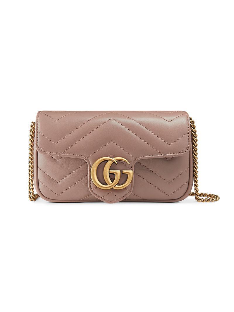 2c3dc90bfe1 Gucci GG Marmont Matelassé Leather Super Mini Bag - Save 19% - Lyst