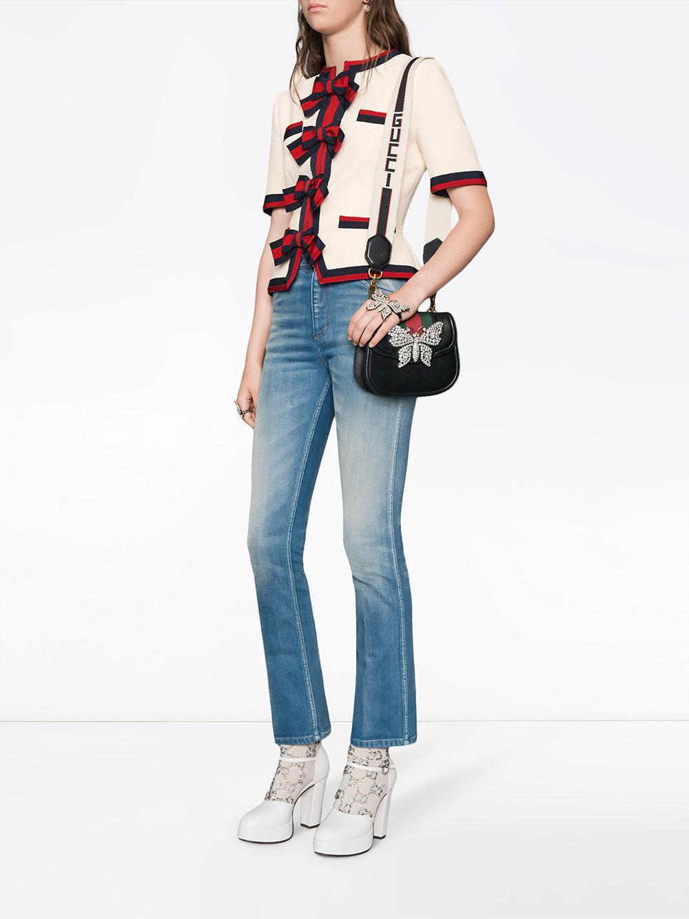 43c5b8c1a262a1 Gucci - Black Totem Small Shoulder Bag - Lyst. View fullscreen