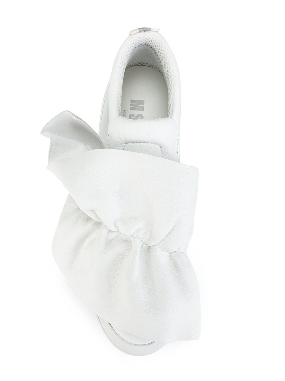 Lyst Msgm Ruffle Sneakers In White