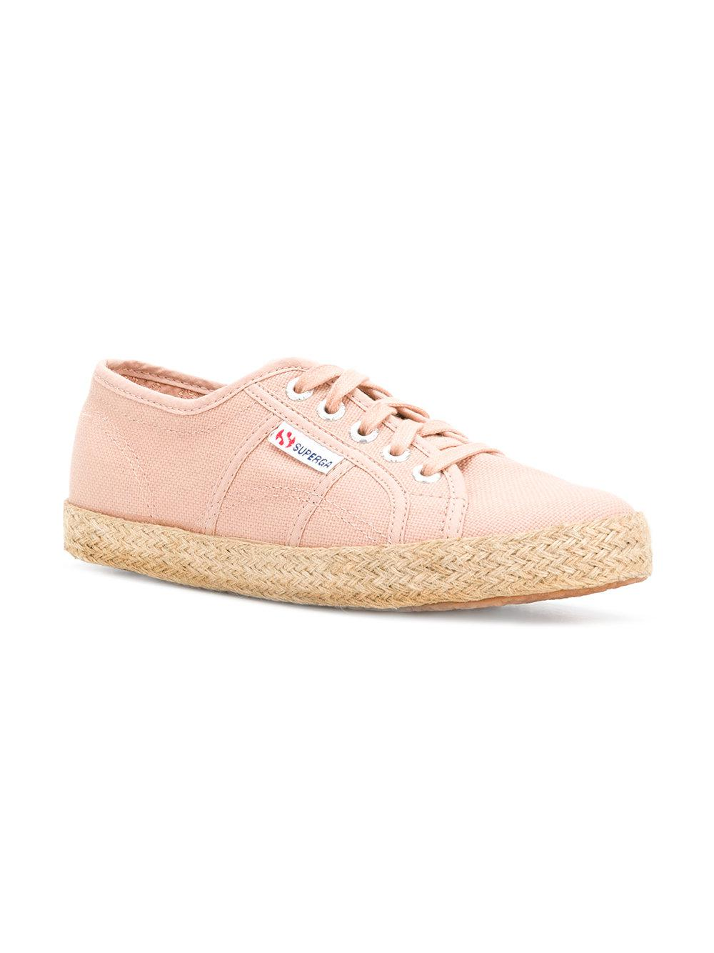 low top woven sole sneakers - Pink & Purple Superga KHGwQ6NP