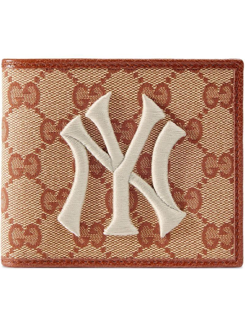 c06c17a729a4 Lyst - Gucci New York Yankees Tm Patch Original GG Coin Wallet in ...