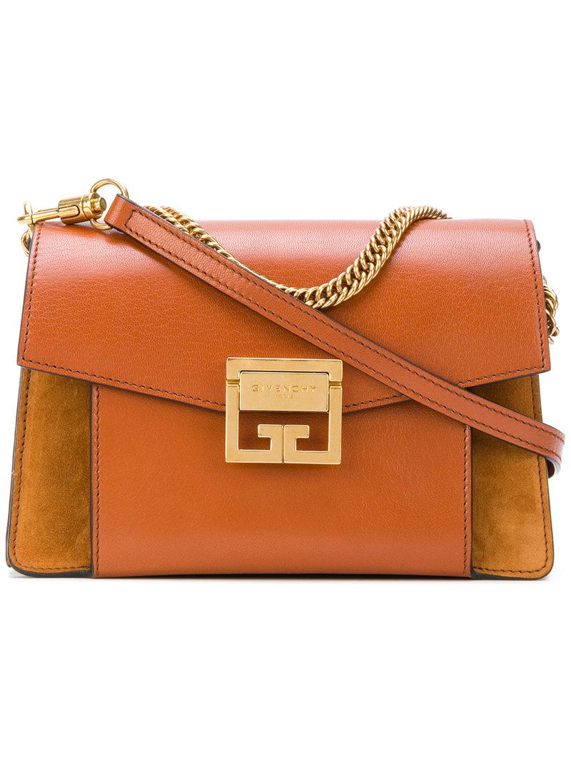 Givenchy - Brown Foldover Chain Shoulder Bag - Lyst. View fullscreen 5f8f46836214d