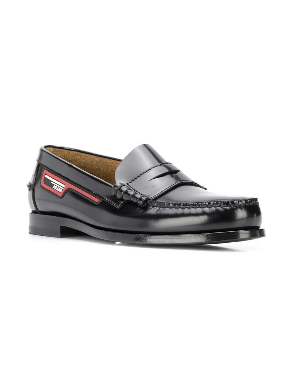 37dd951b9fa Prada Portuguese Patch Loafers in Black for Men - Lyst