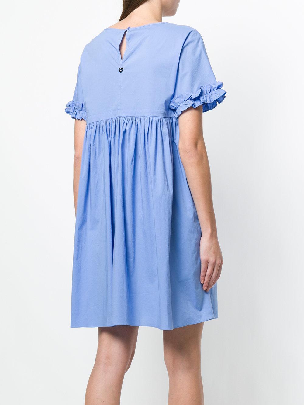 short-sleeve flared dress - Blue Twin-Set MShhqu