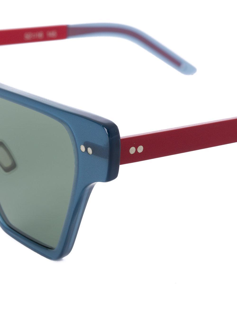 31dcf5fee3 Lyst - Delirious Eyewear Cheetah Sunglasses in Blue